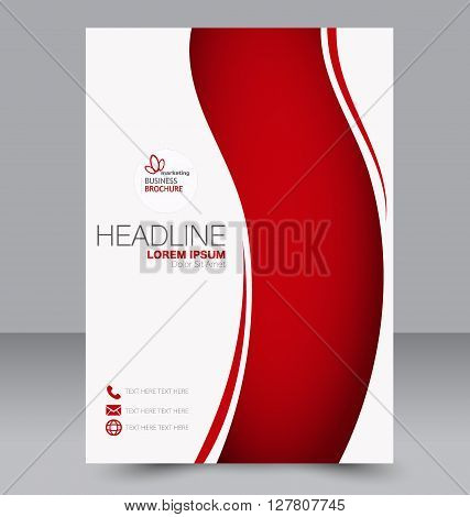 Abstract Flyer Design Background. Brochure Template. To Be Used For Magazine Cover, Business Mockup,