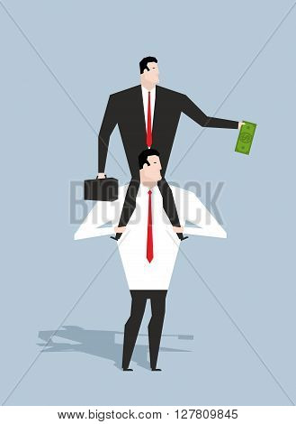 Business Motivation. Boss Stimulates Manager Job. Director Sitting On Neck Of An Employee. Monetary