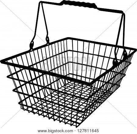 a shopping basket silhouette vector art work
