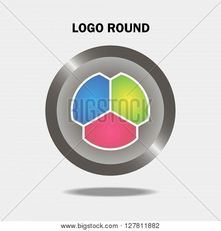 dynamic, vector, creative, logo design, signs and symbols, elements logo, dinamic background, three elements, round elements