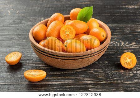 Kumquat Fruit In Bowl