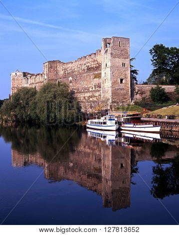 NEWARK ON TRENT, UK - MAY 16, 1992 - Newark Castle alongside the River Trent Newark on Trent Nottinghamshire England UK Western Europe, May 16, 1992.