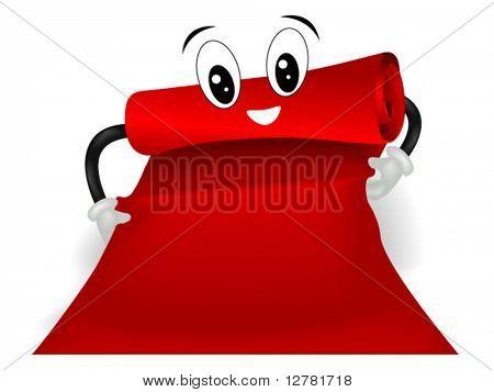 Preparing The Red Carpet - Vector