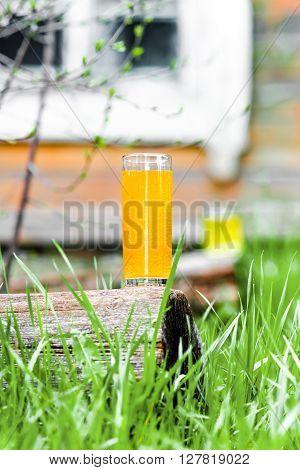Orange Juice On The Grass