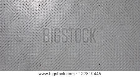 Grey Steel Diamond Plate Background