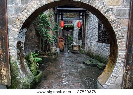 Fenghuang Hallway With Round Entrance