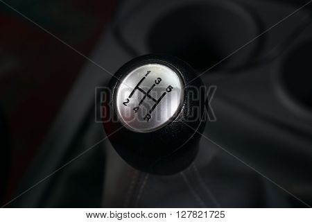 5 Speed Car Gear Shift Or Car Gearbox Lever