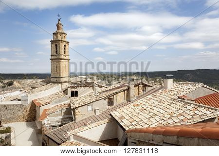 Roof of Fornoles. Village on Teruel province