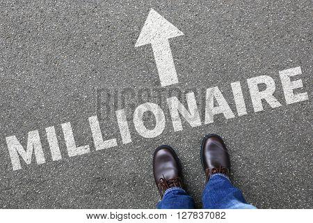 Business Man Concept Millionaire Rich Wealth Businessman Success Successful