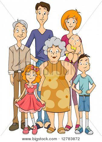 Extended Family - Vector