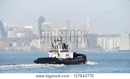 Amnav Tugboat Patricia Ann Departing The Port Of Oakland