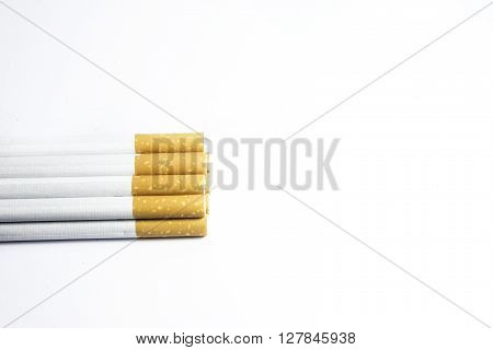 A cigarette is a small cylinder of finely cut tobacco leaves rolled in thin paper for smoking.