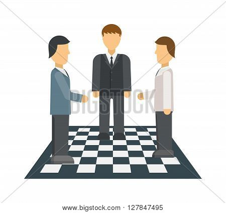 Businessman in opposition concept man success leadership crowd individual decision vector. Business opposition concept and human leader opposition concept. Opposition concept communication metaphor.