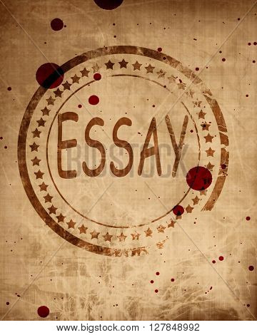 Essay stamp on a grunge background