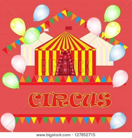 Vector illustration template posters advertisements for circus performances