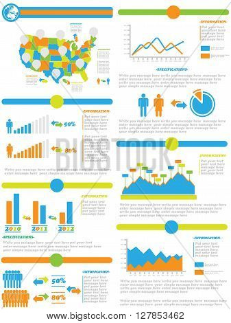 INFOGRAPHIC DEMOGRAPHICS OF STATES OF AMERICA TOY