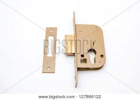 an security lock with cylinder and key door handle poster