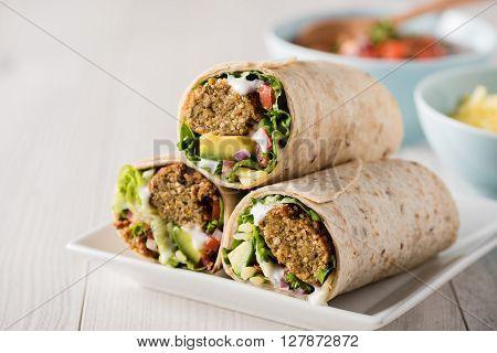 Vegetarian Falafel Wraps