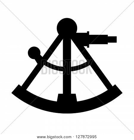 Sextant ( shade picture ) on white background