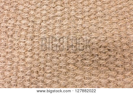 Fabric Texture Close Up of Brown Woven Rope Texture Pattern Background.