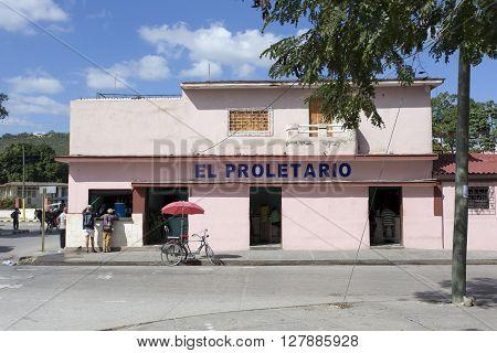 Street View In Camaguay, Restuarant El Proletario Cuba