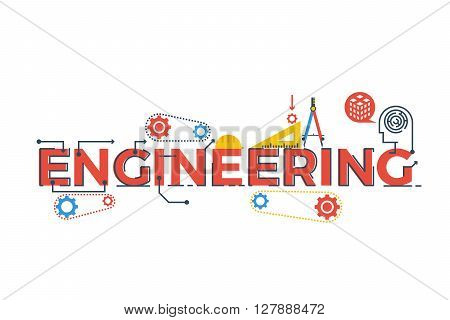 Engineering Word Illustration