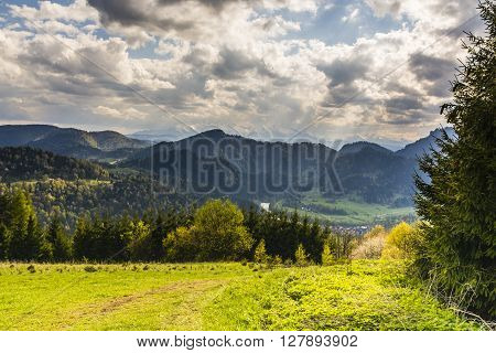 View Of The Pieniny And The Tatra Mountains.