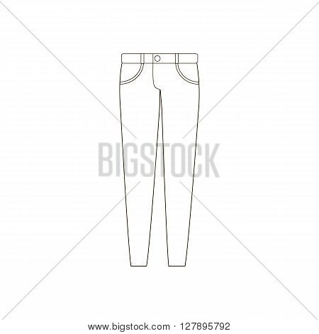 Jeans pants trousers. Vector illustration. Pants icon