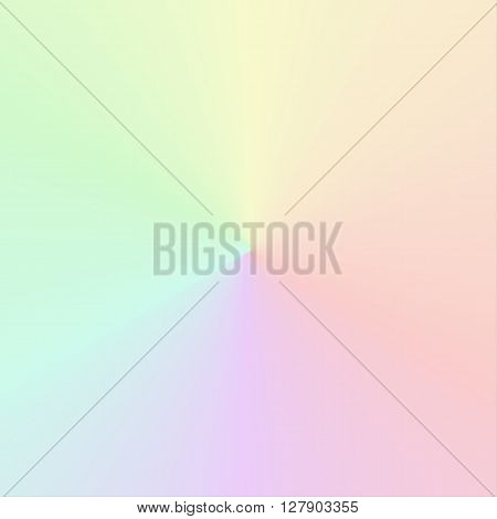 Isolated vector circular gradient in muted rainbow colors