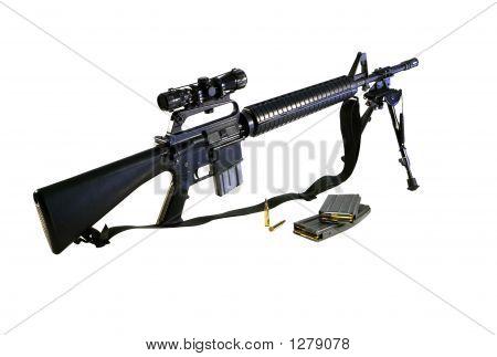 Ar-15 A2 Assault Rifle And Ammo