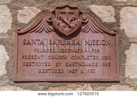 Santa Barbara Mission Exterior