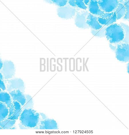 Abstract blue hand drawn watercolor background, stock vector