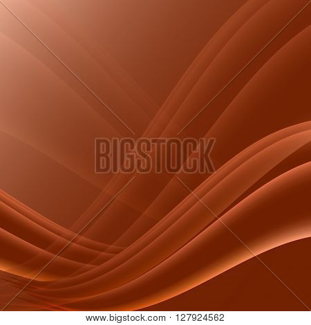 Orange and black waves modern futuristic abstract background, stock vector