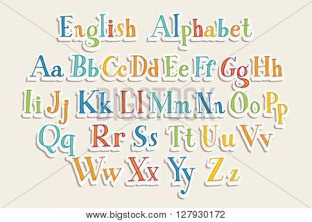 Hand Cut Vector Alphabet
