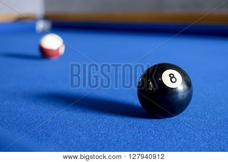 Ball number eight on the pool table. ** Note: Soft Focus at 100%, best at smaller sizes