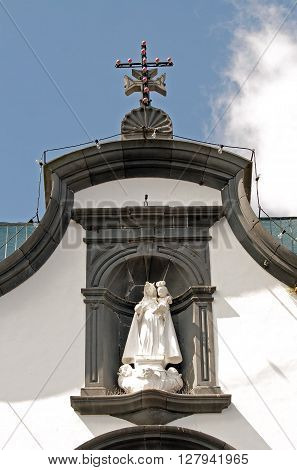 Typical Church of Madeira (Portugal). Religious Statuary old Madeira