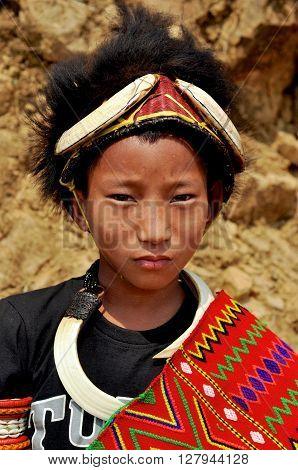 Small Boy In Nagaland, India