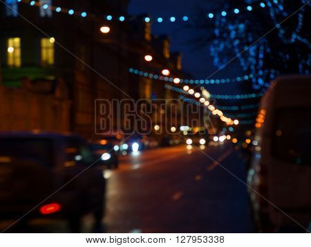 cityscape at twilight time Blurred Photo bokeh