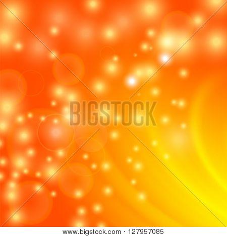 Abstract Light Orange Wave Background. Blurred Orange Pattern.