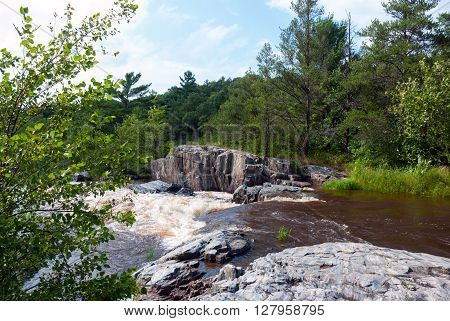 Big Falls of the Eau Claire River - Eau Claire County Park Wisconsin USA