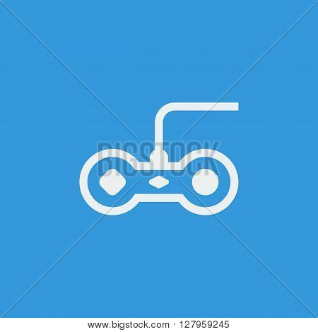 Joystick Icon In Vector Format. Premium Quality Joystick Symbol. Web Graphic Joystick Sign On Blue B