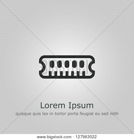 Ram Icon In Vector Format. Premium Quality Ram Symbol. Web Graphic Ram Sign On Grey Background.