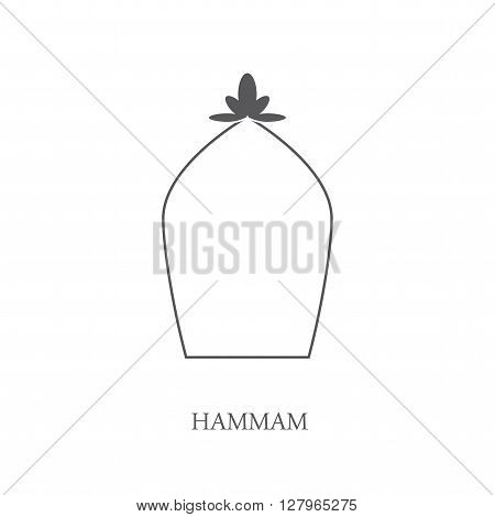 Hammam logo. Hammam vector. Turkish bath. Vector illustration.