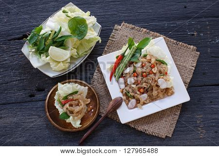 Thai appetizer food called