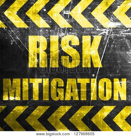 poster of Risk mitigation sign