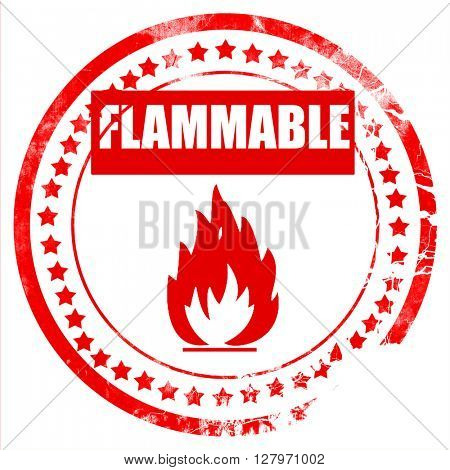 Flammable hazard sign