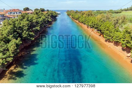 The Potidea canal in Halkidiki, Macedonia, Greece
