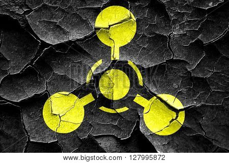 Grunge cracked Chemical weapon sign