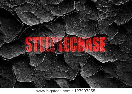 Grunge cracked Steeplechase sign background