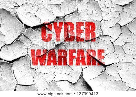 Grunge cracked Cyber warfare background